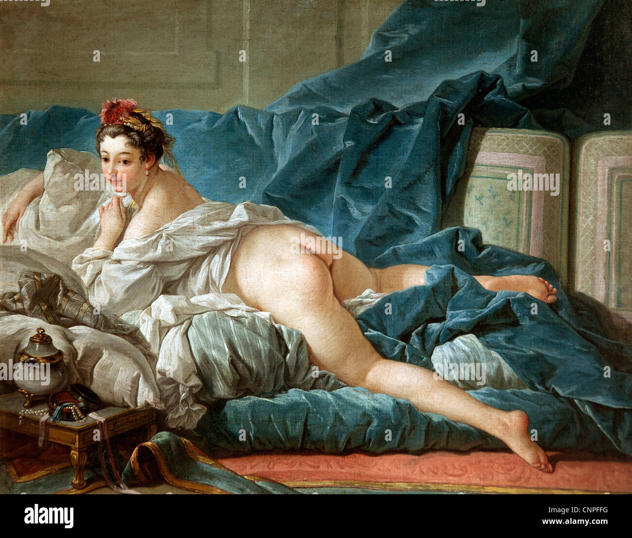 L'Odalisque 1745 by BOUCHER, Francois 1703-70  France French - Stock Image