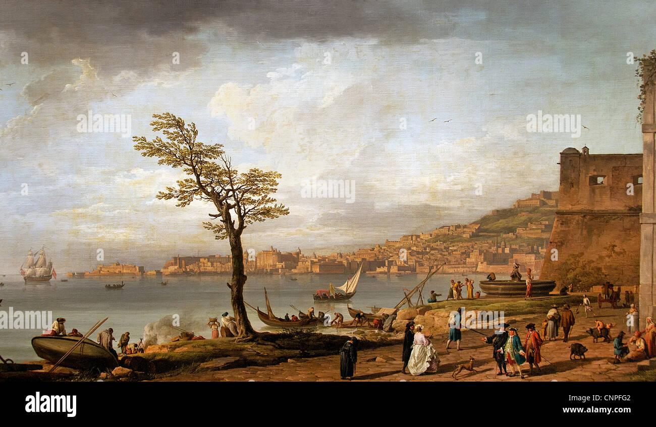 Vue de golfe de Naples - View of Gulf of Naples 1748 -- by VERNET Claude Joseph 1714-89  France French - Stock Image