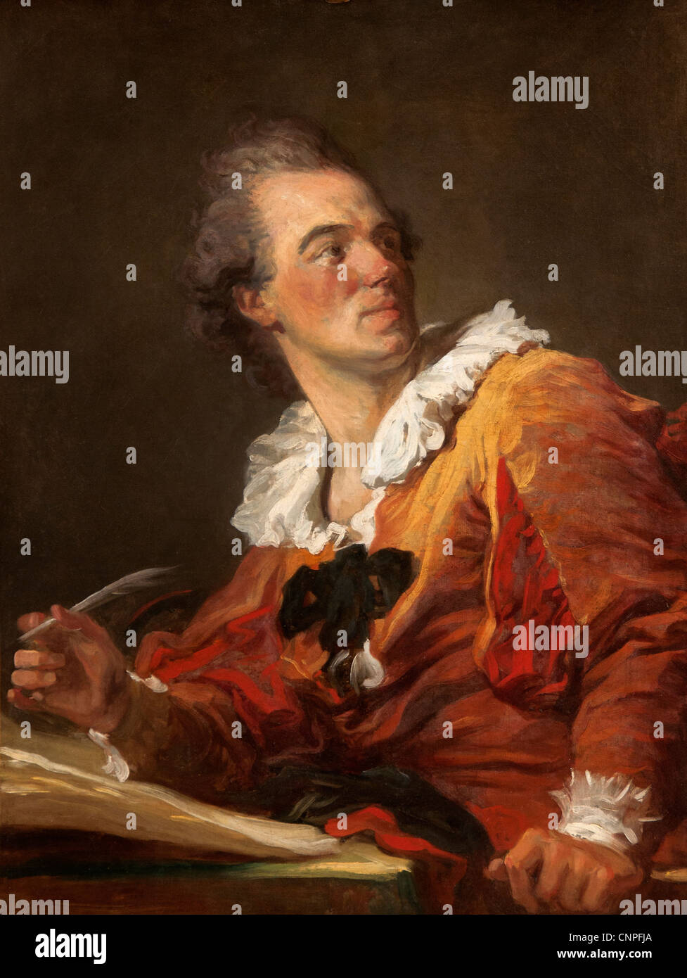L'Inspiration -The Inspiration 1769 by Jean Honoré Fragonard 1732-1806  France French