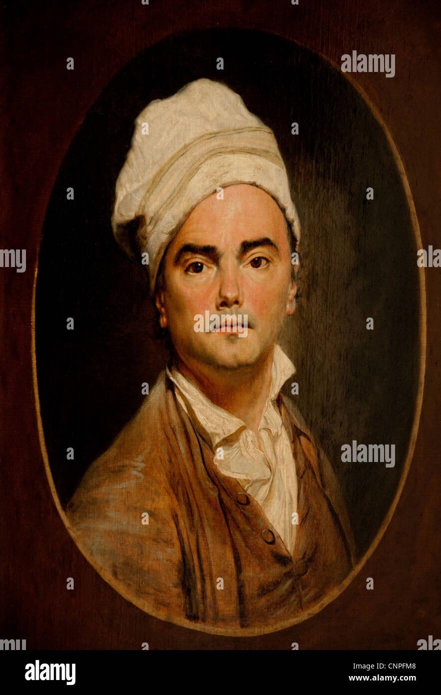 self portrait  1799 Jean Antoine Julien - Julien de PARMA 1736-1738 Swiss Switzerland - Stock Image