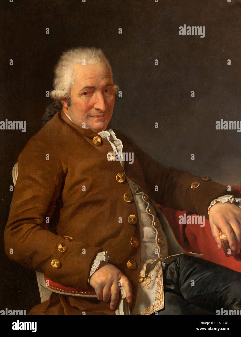 Charles Pierre Pecoul 1784 by Jacques-Louis DAVID 1748 -1825 France French - Stock Image
