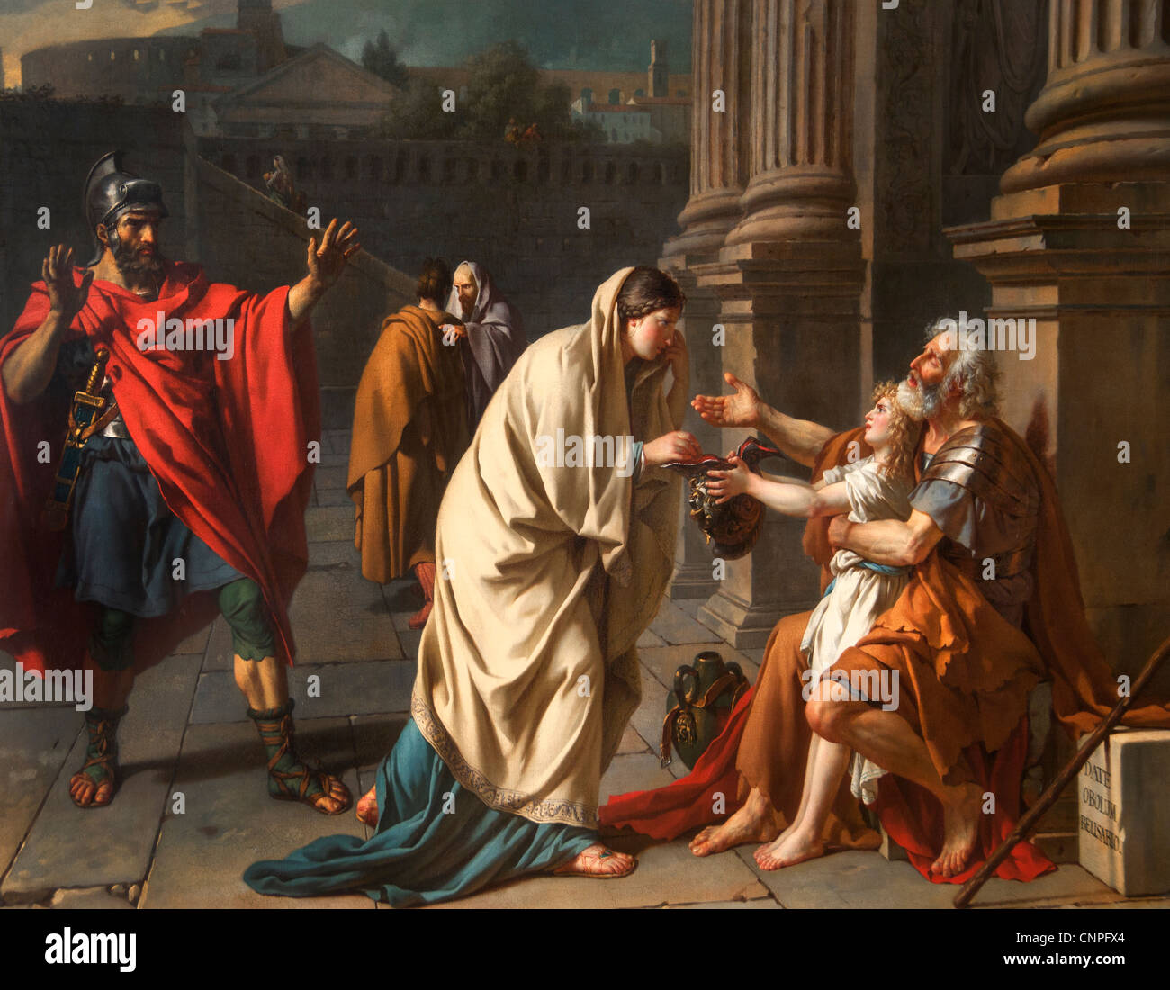 Bélisaire demandant l'aumône  - Belisarius begging 1748 by Jacques-Louis DAVID 1748 -1825 France French - Stock Image