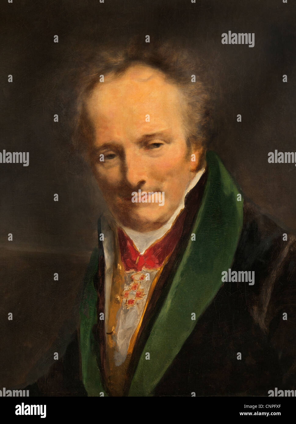 Dominique Le Baron Vivant  Denon1747-1827 French painter writer portrait 1812  by Pierre Paul Prud`hon 1758 - 1823 - Stock Image