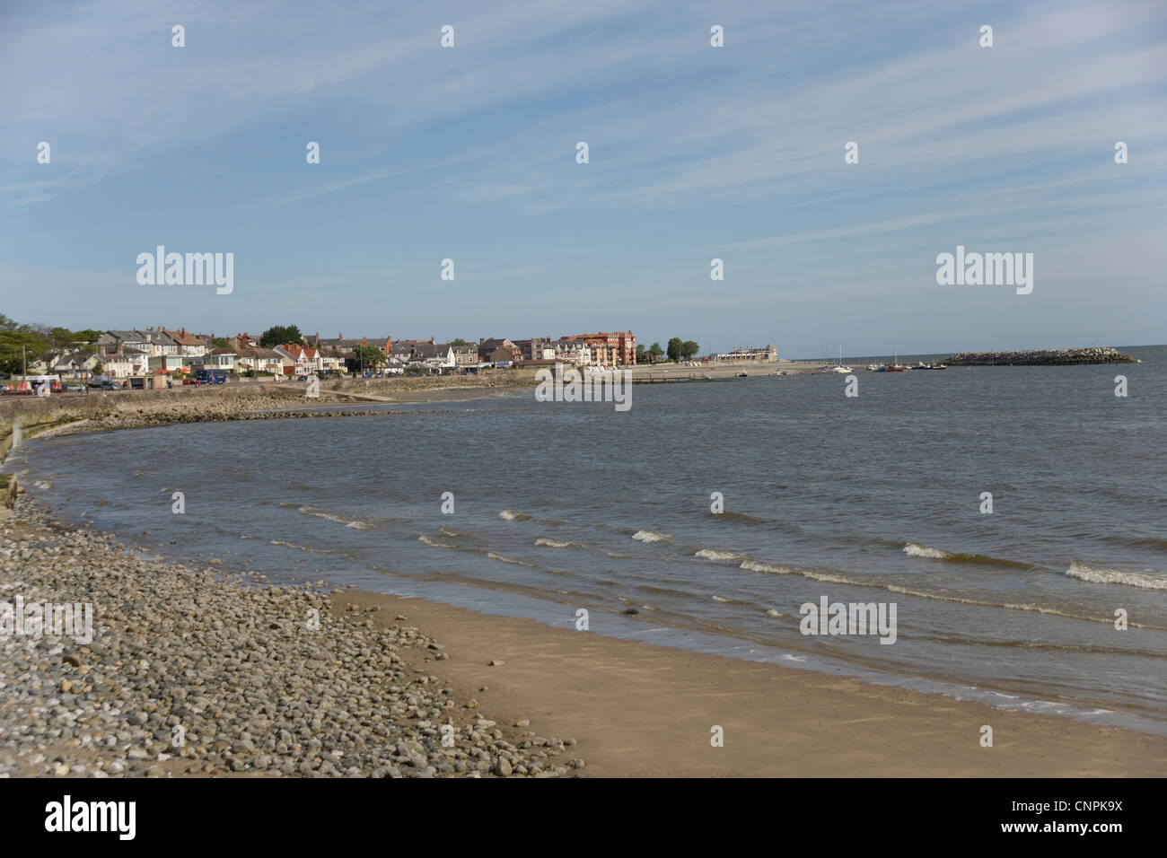 Rhos on Sea from Colwyn Bay, North Wales - Stock Image