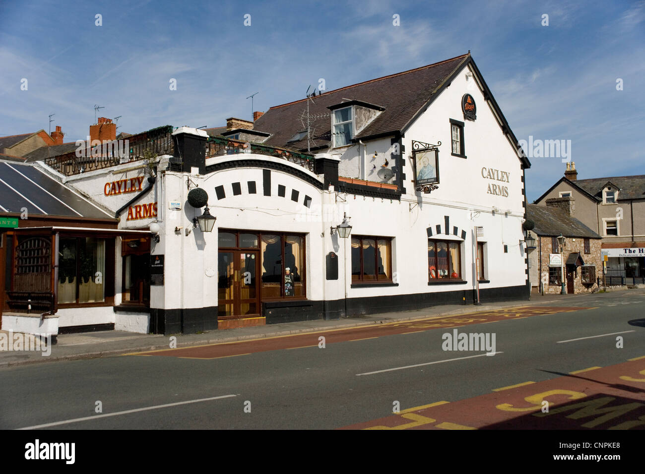 Cayley Arms in Rhos on Sea North Wales - Stock Image
