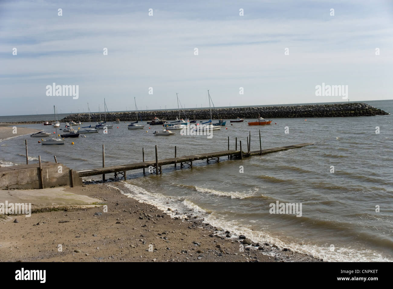 Rhos on Sea harbour, North Wales - Stock Image