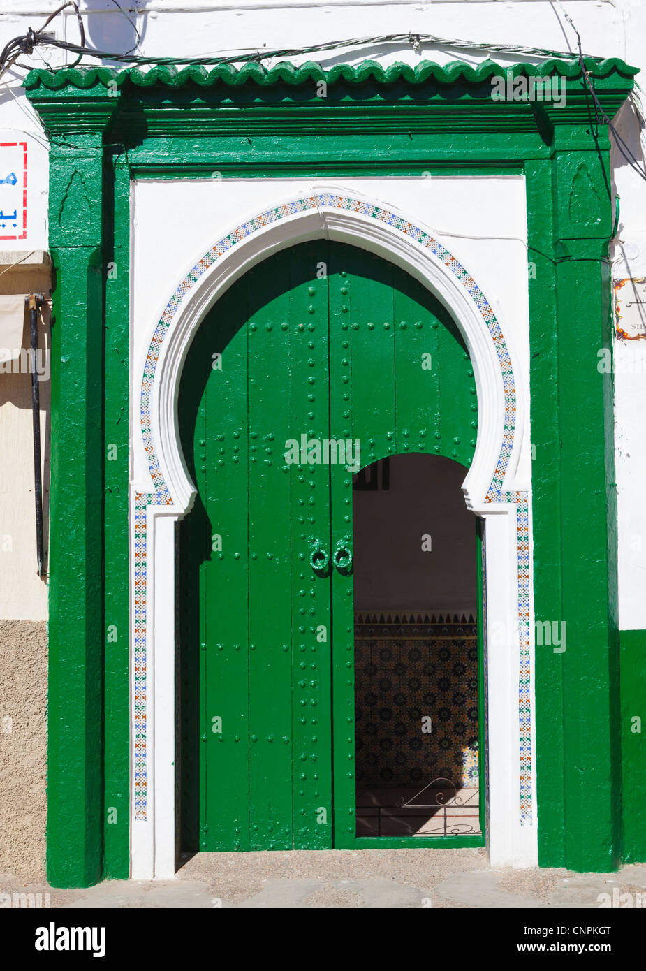 Asilah (also Assilah, or Arzila), Morocco. Typical doorway. - Stock Image