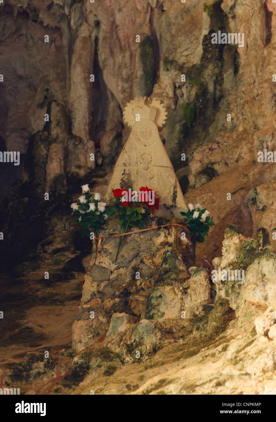 Virgin in Cueva del Agua, or Cueva de la Virgen de Tíscar, near Tiscar, Jaen province, Andalusia, southern - Stock Image