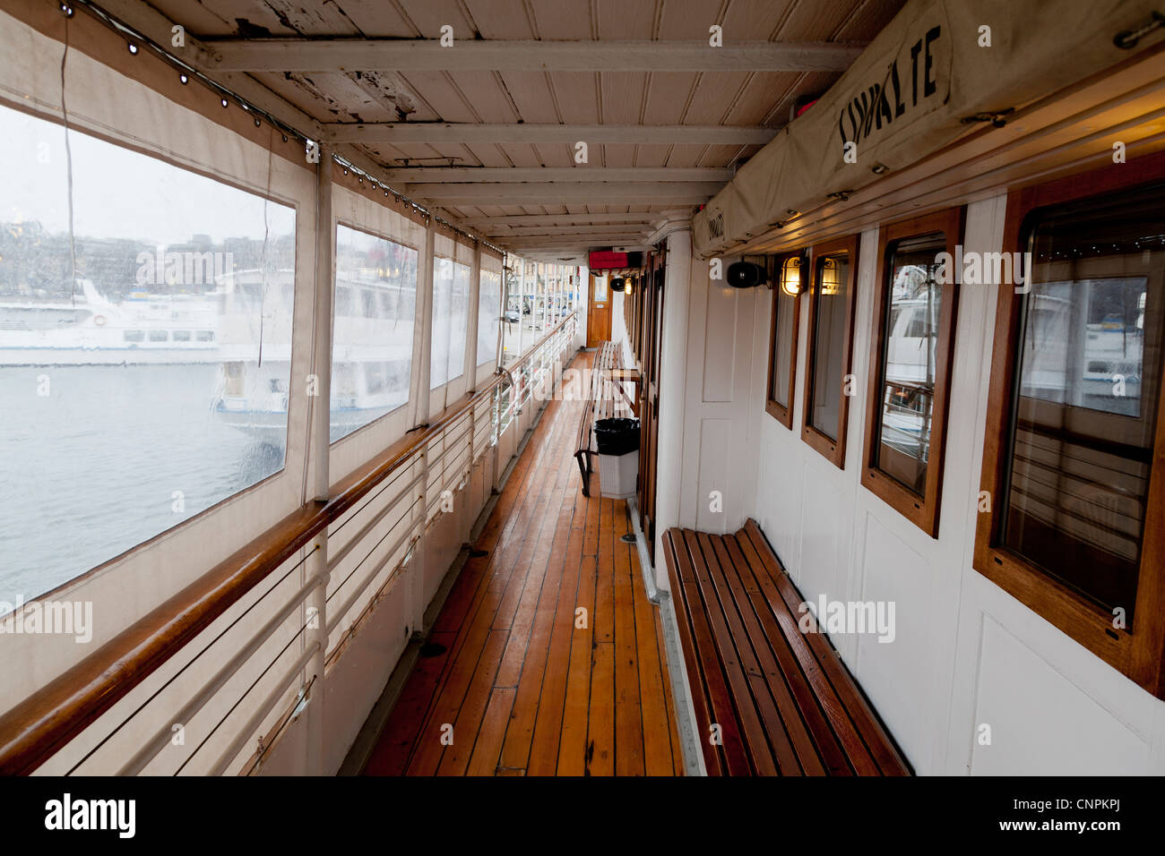 Waxholm III, a boat providing tours in and around the archipelago near Stockholm Sweden. - Stock Image