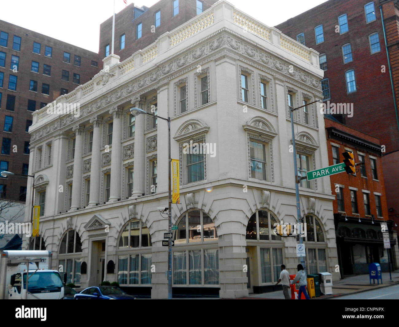 Brewers Exchange on the NRHP since March 28, 1985. At 20 Park Ave. in central Baltimore, Maryland - Stock Image
