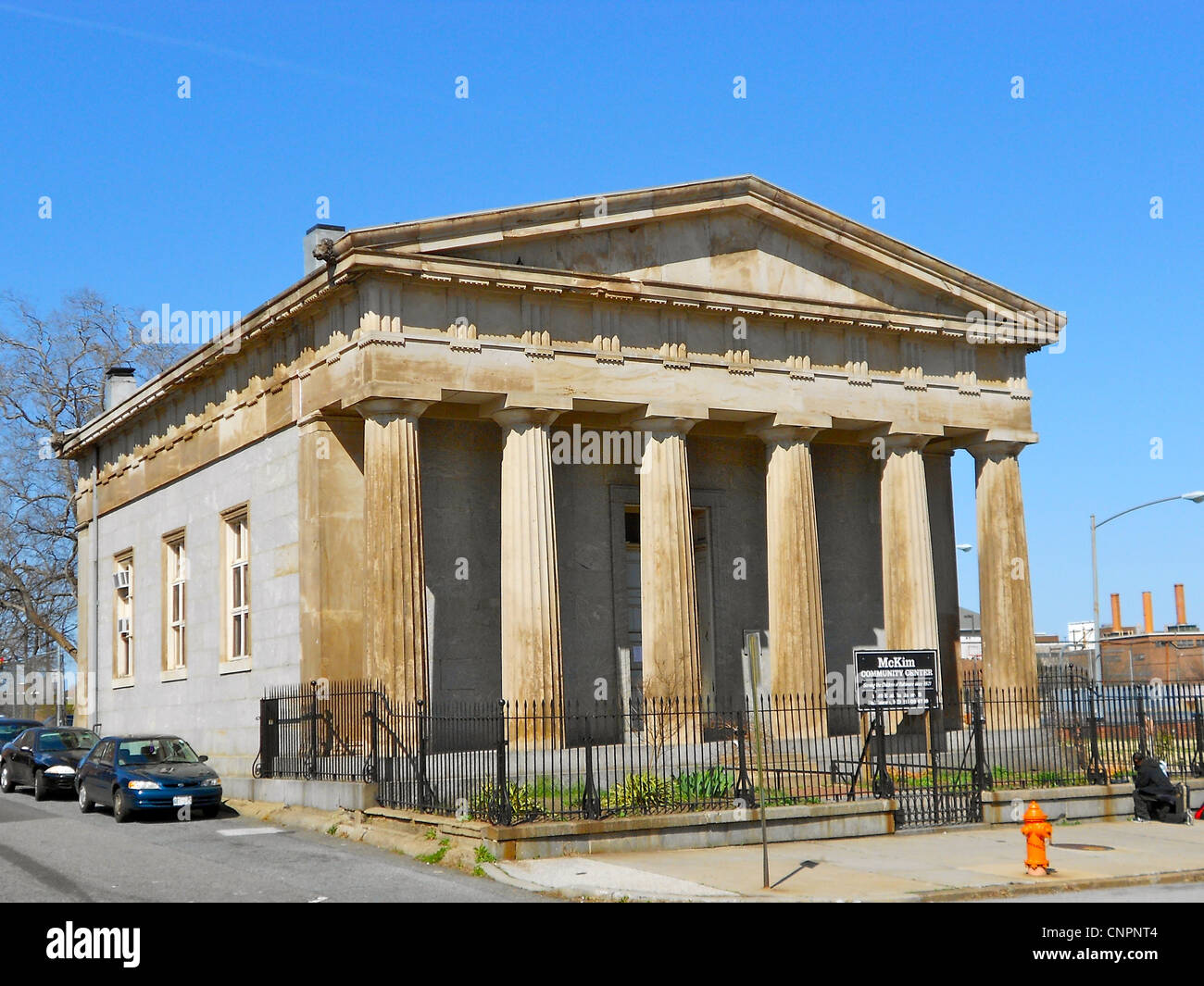 McKim's School on the NRHP since 1973 at 1120 E. Baltimore in Baltimore, Maryland. - Stock Image