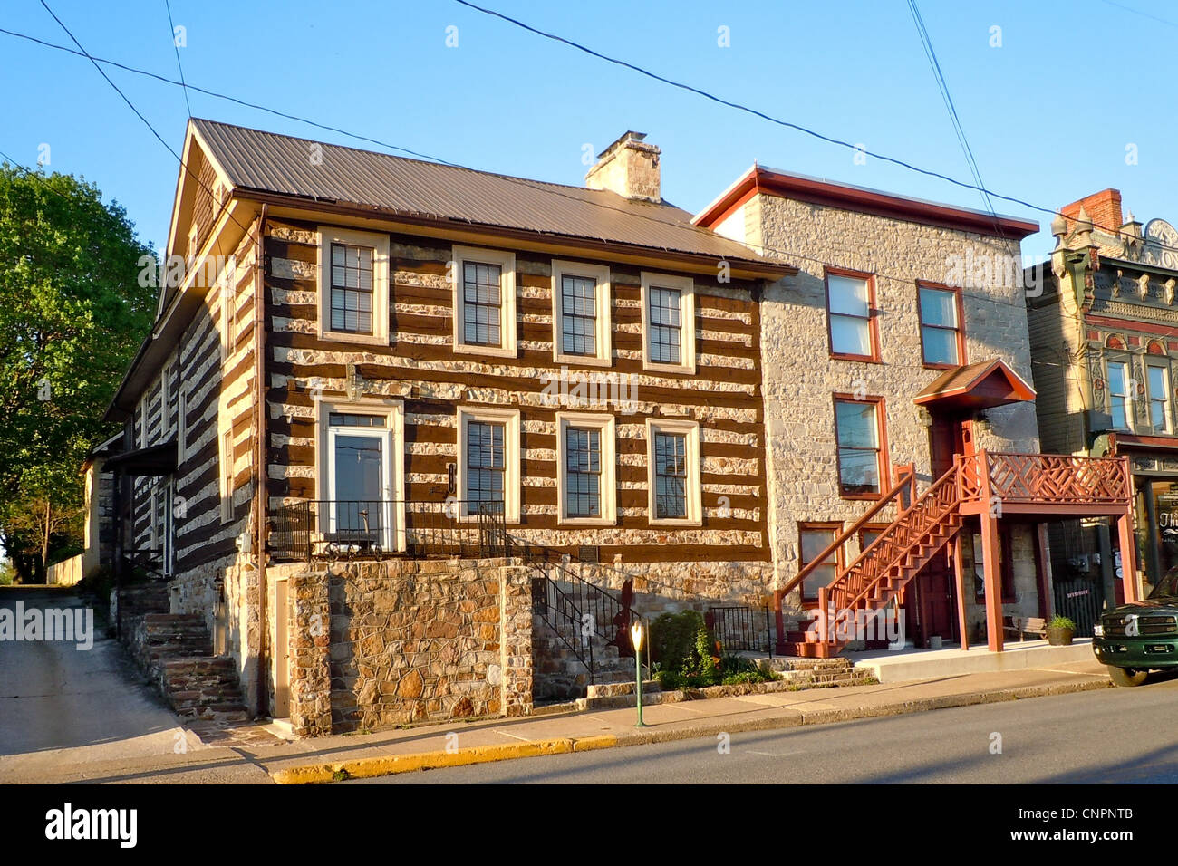 McConnell House on the NRHP since November 21, 1976. At 114 Lincoln Way, McConnellsburg, Fulton County, Pennsylvania - Stock Image