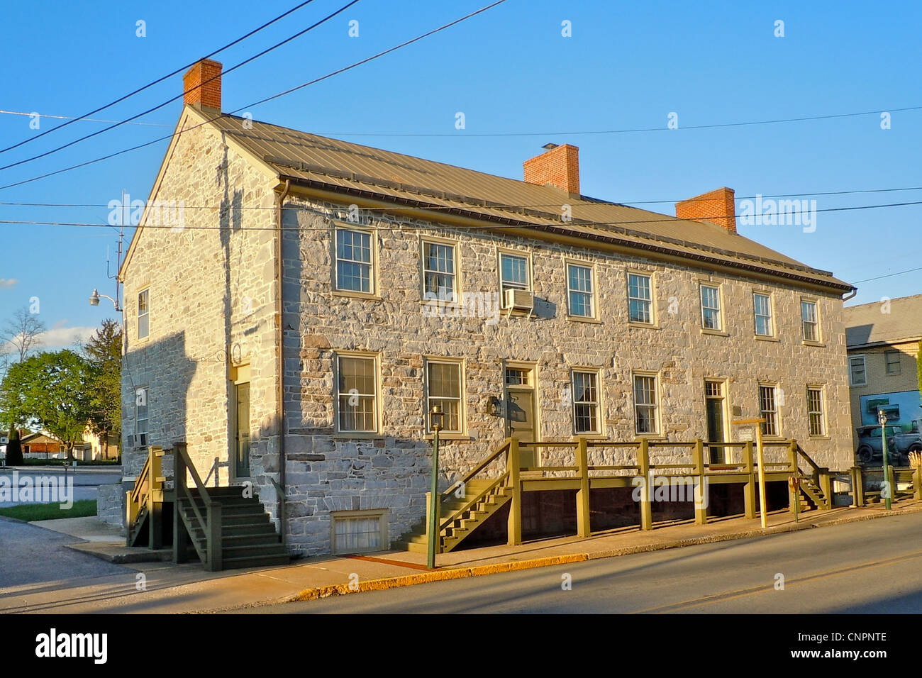 Fulton House on the NRHP since July 20, 1977. At 112–116 Lincoln Way East, McConnellsburg, Fulton County, Pennsylvania. - Stock Image