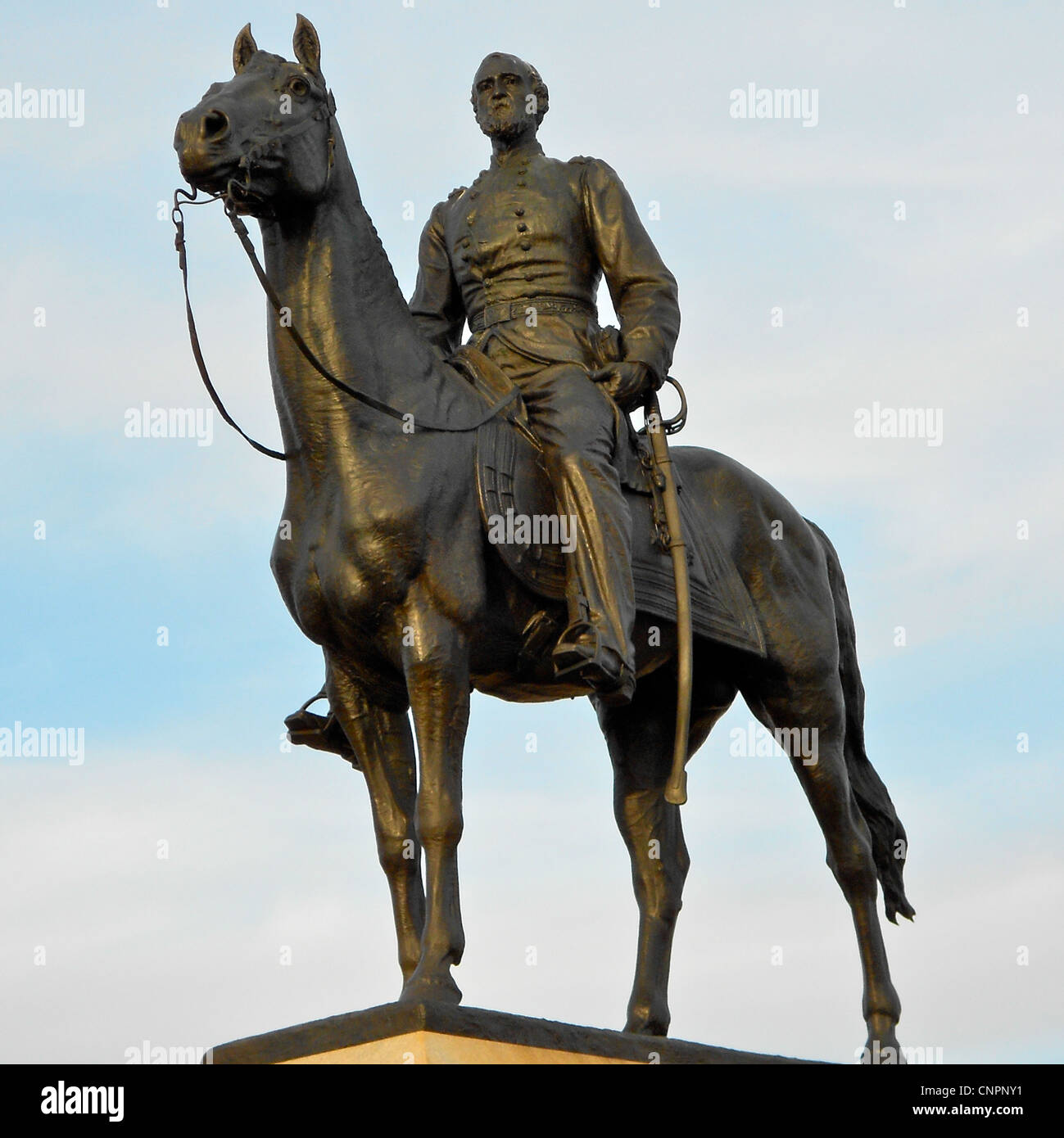 Monument on the Gettysburg (PA) battlefield to General Mead - Stock Image
