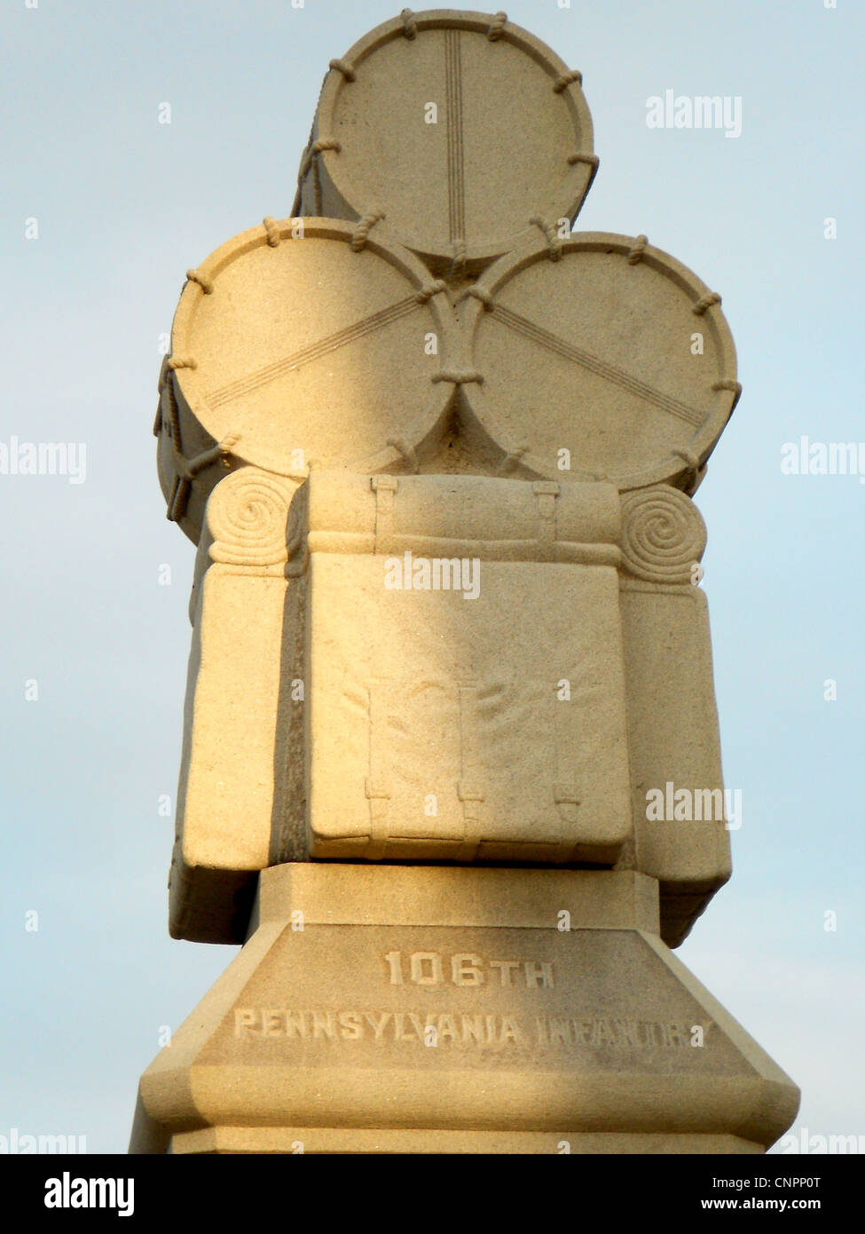 Monument on the Gettysburg (PA) battlefield to the 106th Pennsylvania Infantry. - Stock Image