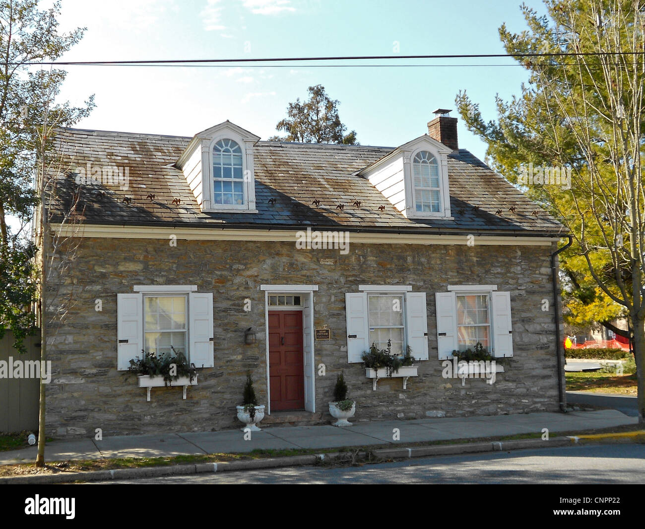 Kemp Cottage in the Lititz (PA) historic district on the