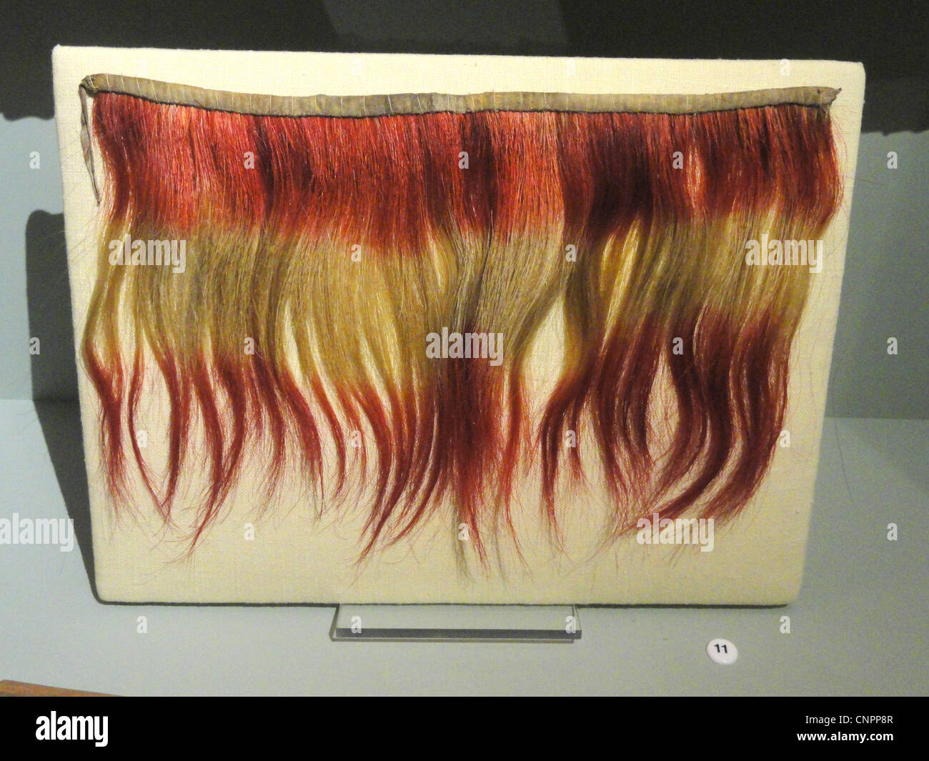 Collar, Choctaw, dyed horsehair, before 1828 - Native American collection - Peabody Museum, Harvard University Stock Photo