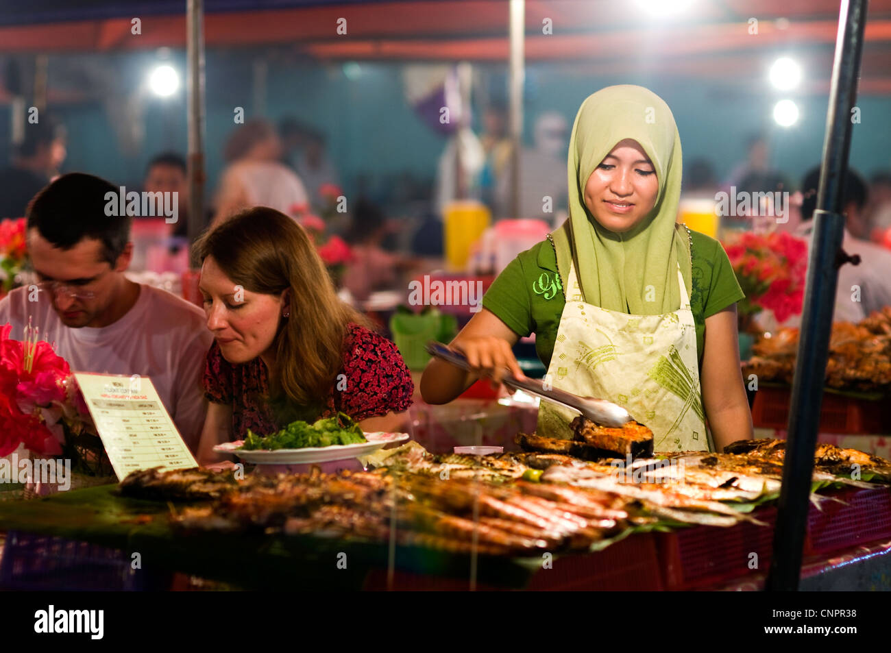 Filipino market at night, Kota Kinabalu, Sabah, Malaysia - Stock Image