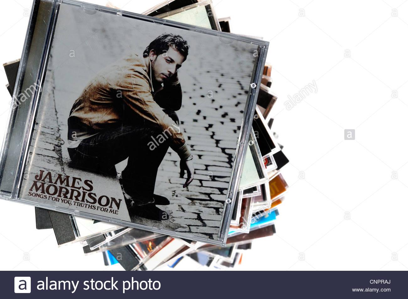 James Morrison album Songs for You Truths for Me, piled music CD