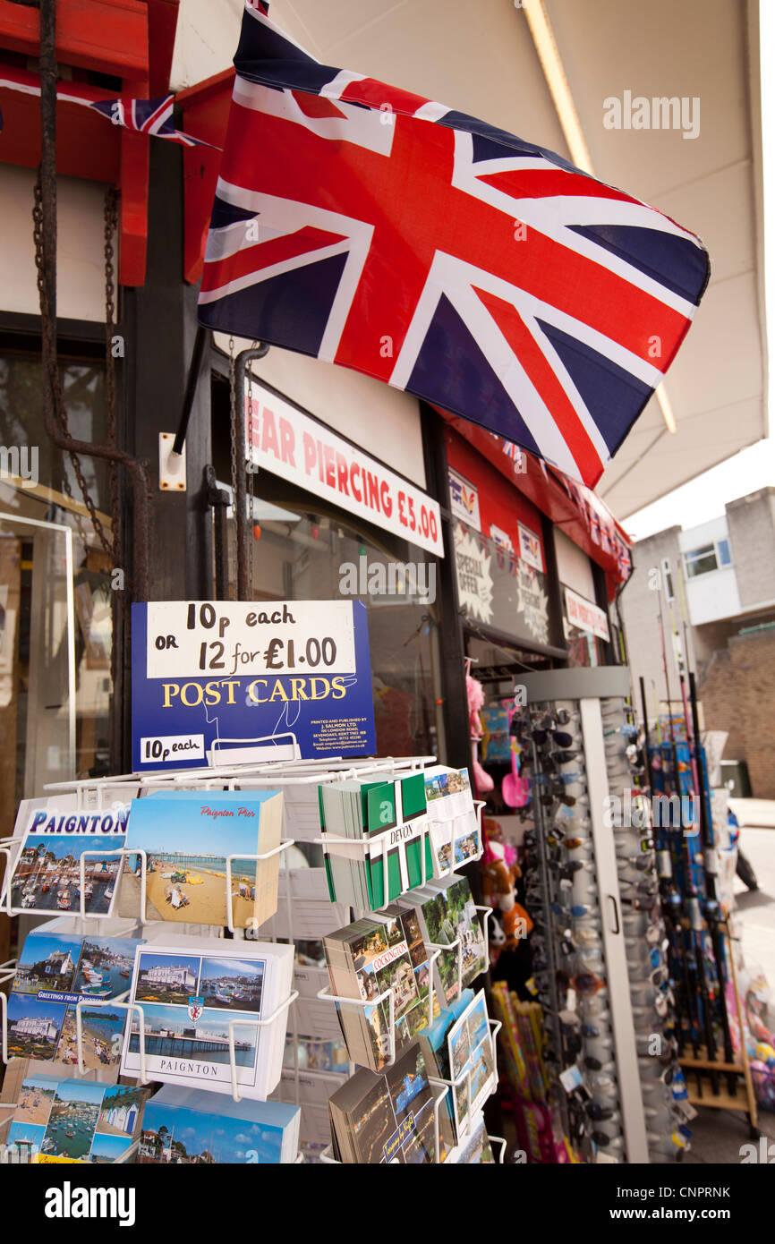 UK, England, Devon, Paignton, Torbay Road, union jack flag