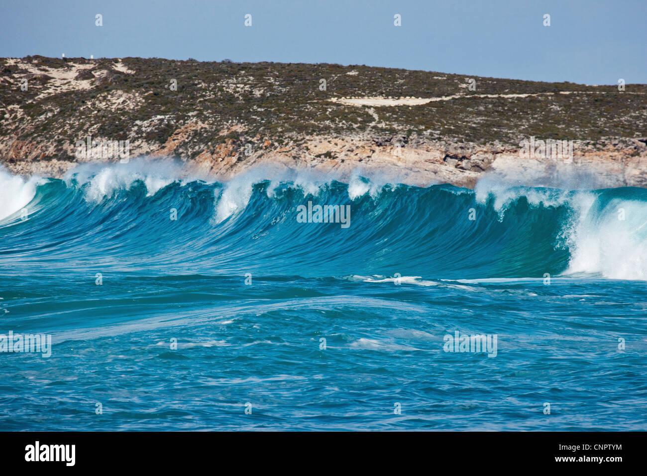 Waves Greenly Beach. Eyre Peninsula. South Australia. Stock Photo