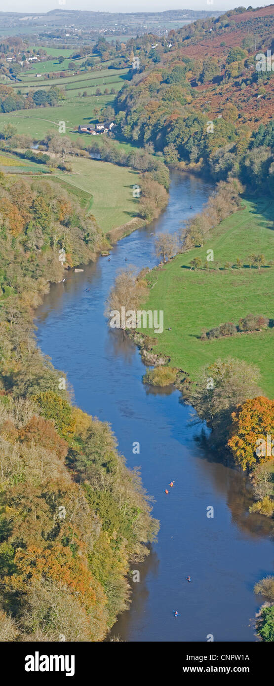 Symonds Yat in the Forest of Dean on the borders of Herefordshire and Gloucestershire, England - Stock Image