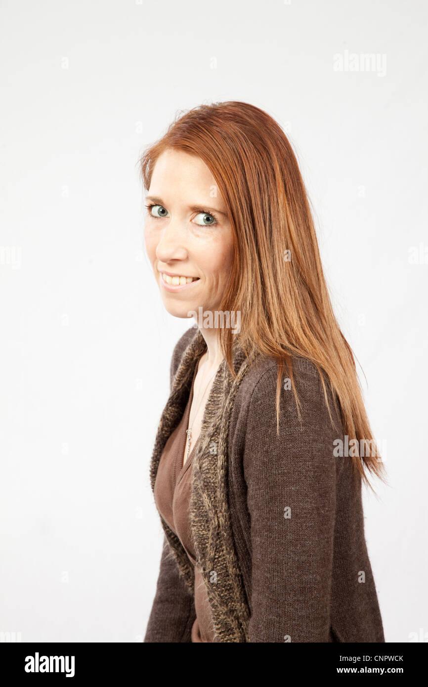 Thin mature redhead