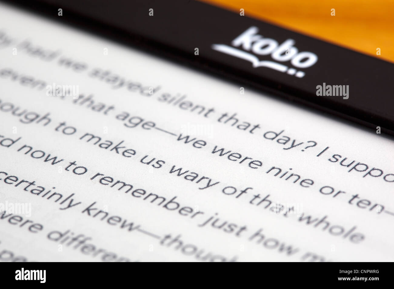 Kobo Ebook Reader - Stock Image