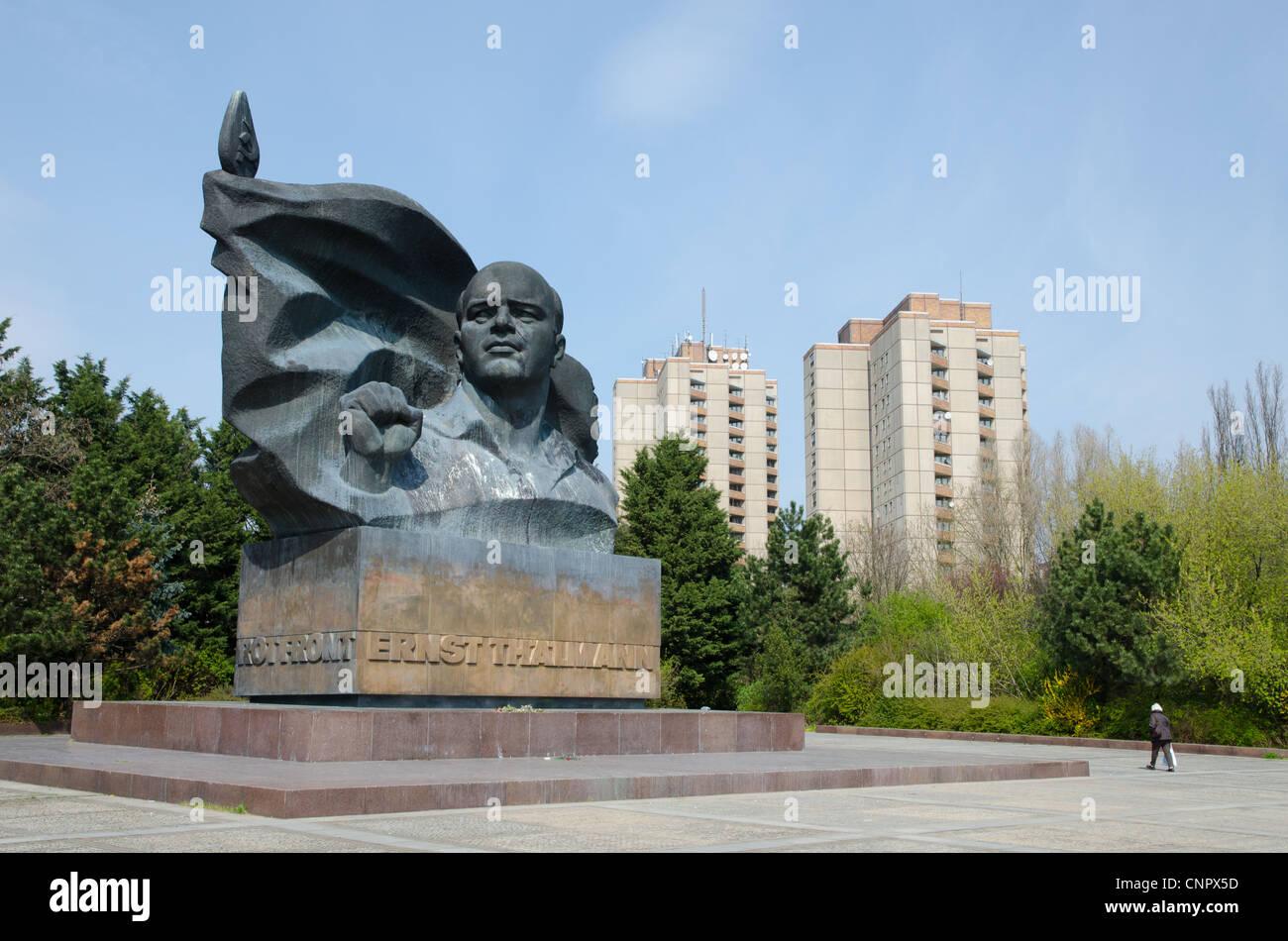 Ernst Thaelmann giant communist monument in eastern Berlin - Stock Image