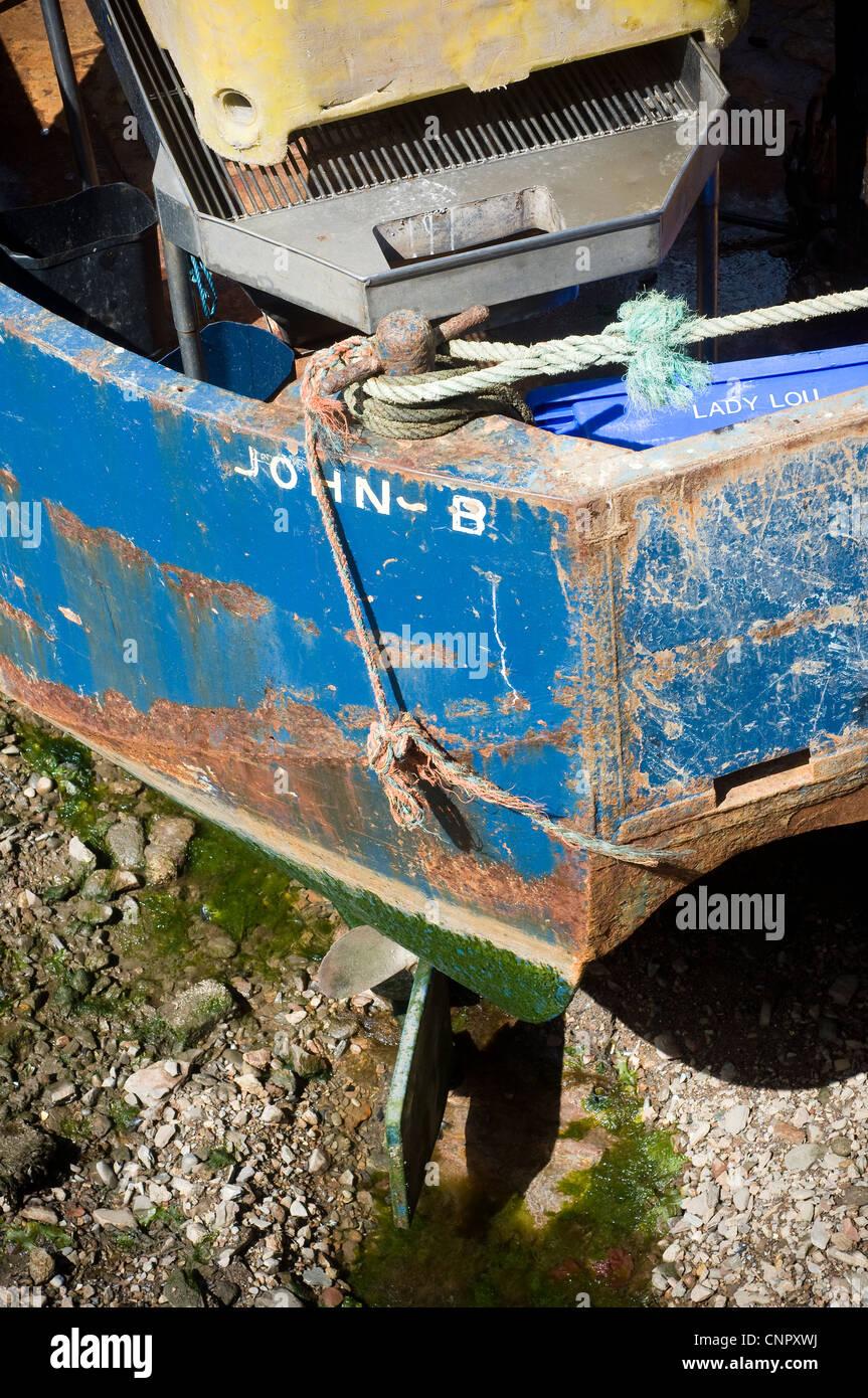 sloop john b,beach boys,BM 522 - John B, She is a Fish Farm Boat.Brixham Harbour,keel - Stock Image
