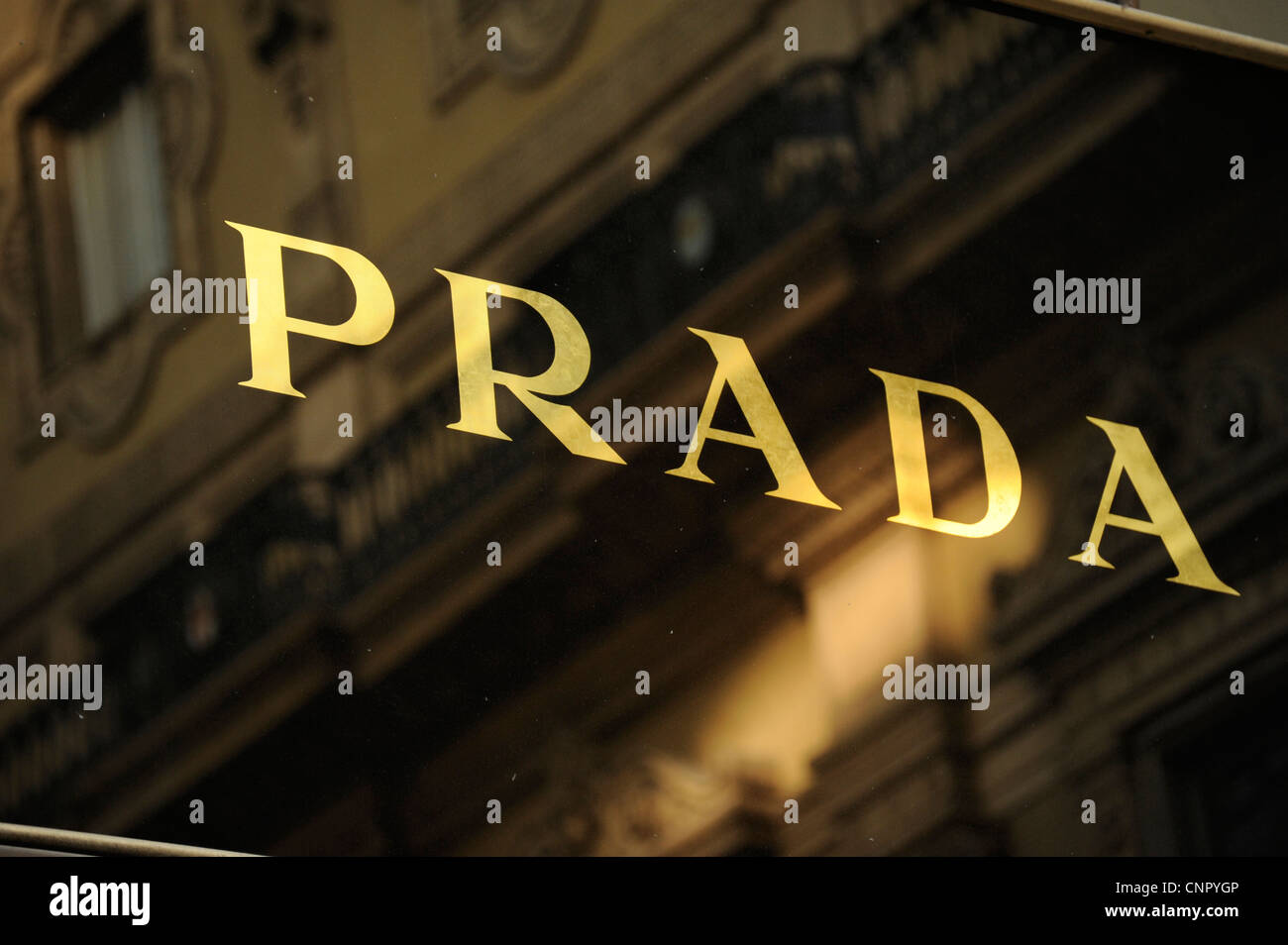 Prada shop. Galleria Vittorio Emanuele II. Milan, Italy Stock Photo