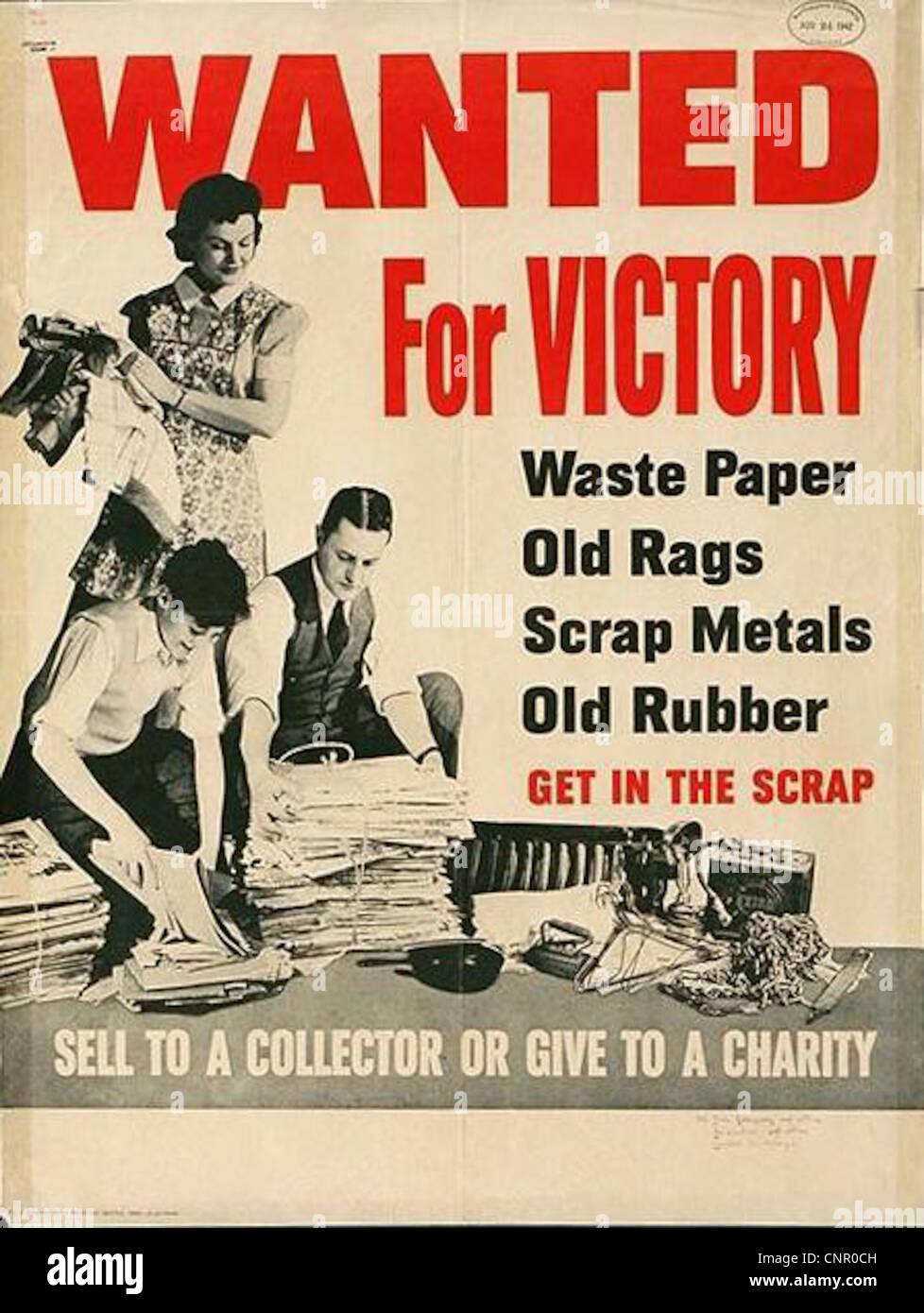 World War 2 Propaganda Posters - Stock Image