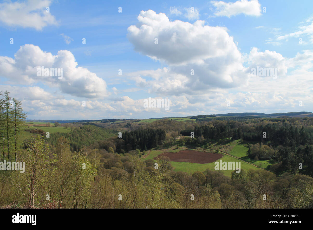 Looking south down the Eden Valley from Armathwaite, Cumbria, England. - Stock Image