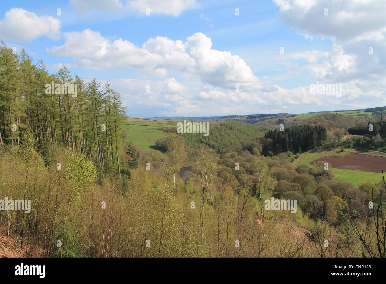 The Eden Valley in Cumbria, England. - Stock Image