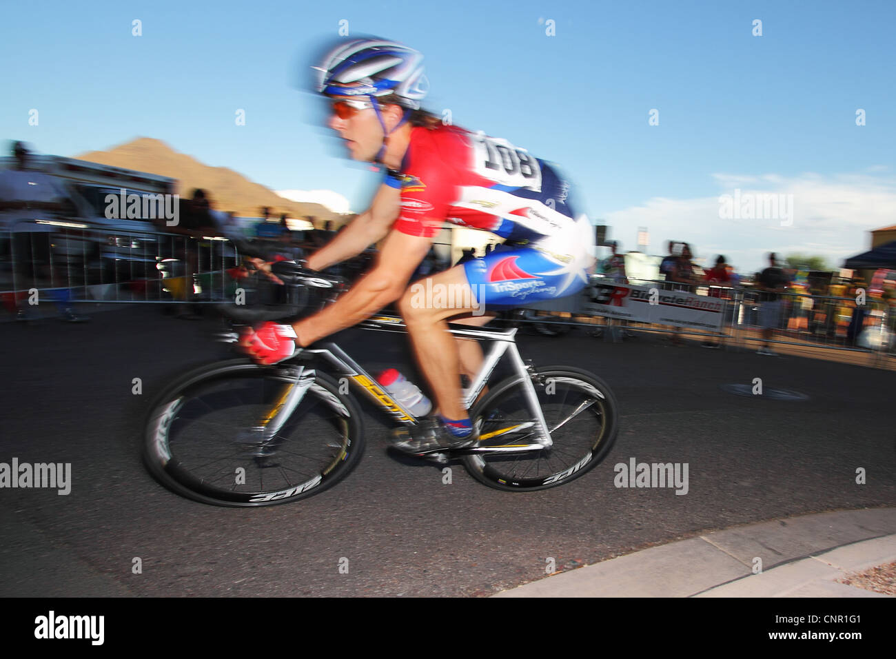 SCOTTSDALE, AZ - OCTOBER 2: Cyclists compete in the Scottsdale Cycling Festival Criterium. Stock Photo