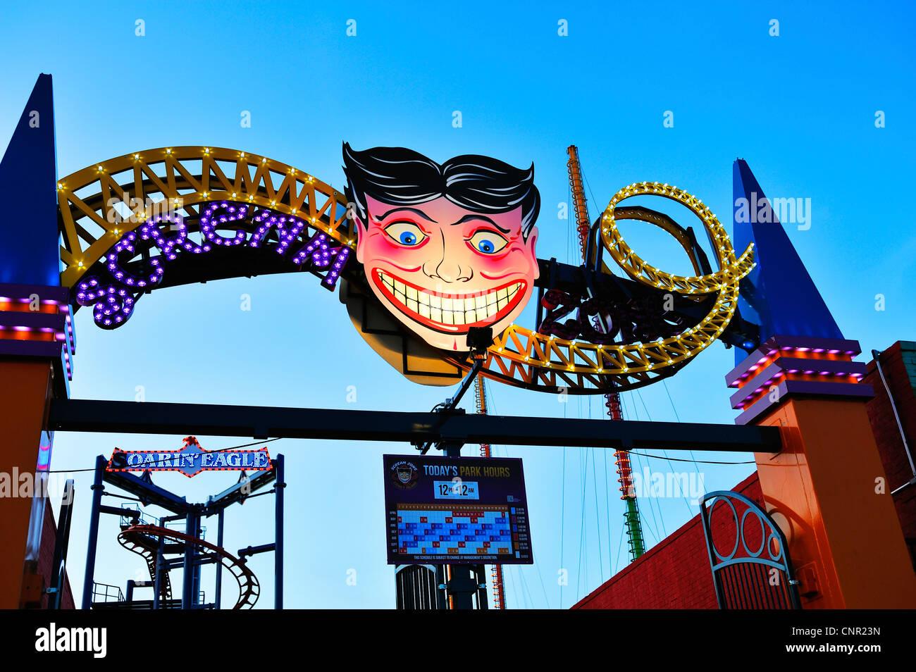 Coney Island Amusement Park - Stock Image