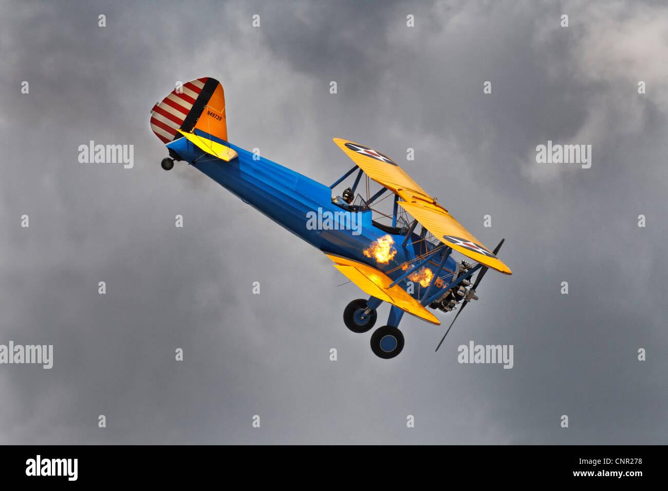 Boeing PT17 Stearman - Stock Image