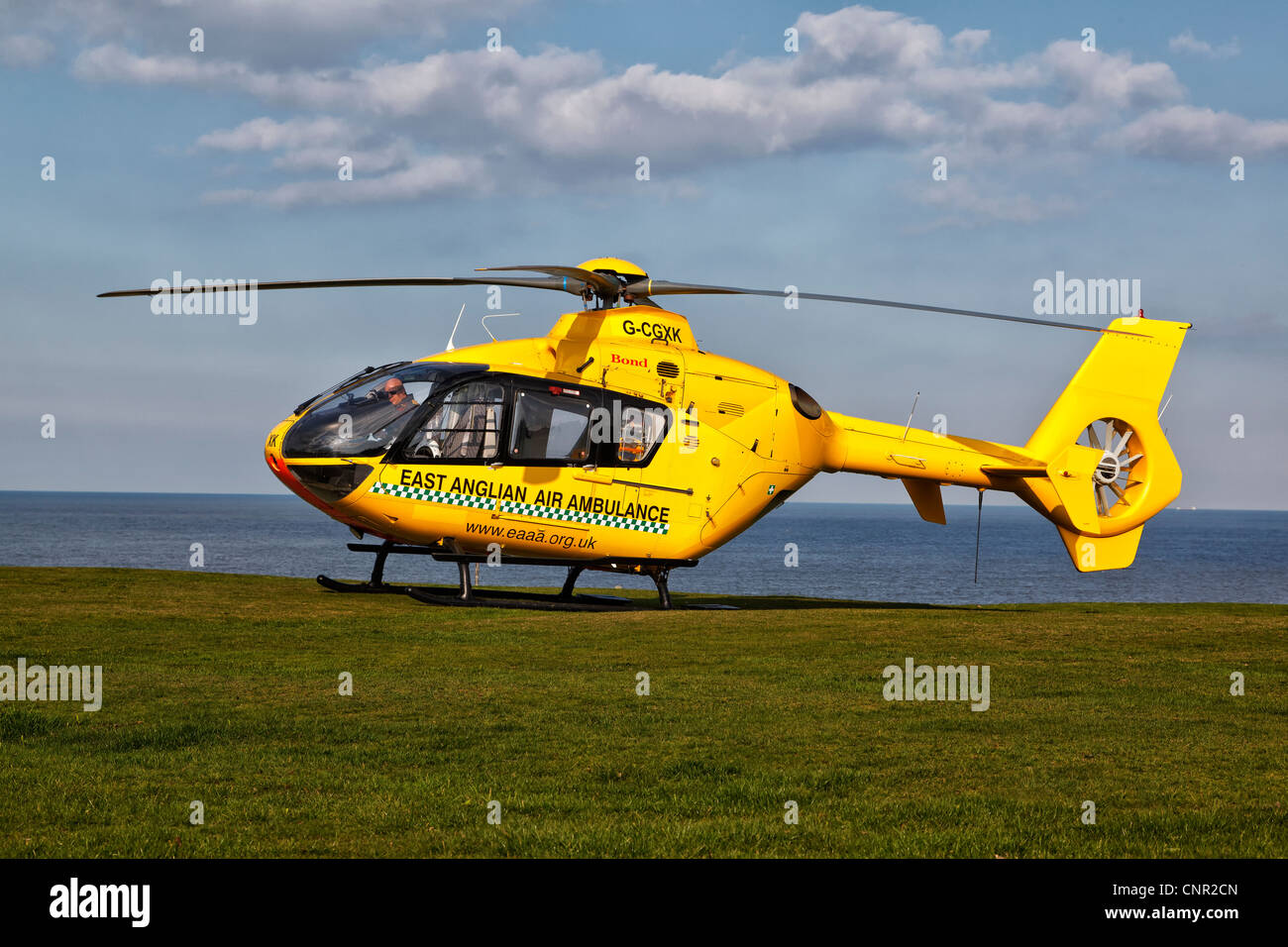 Eurocopter EC135 air ambulance helicopter - Stock Image