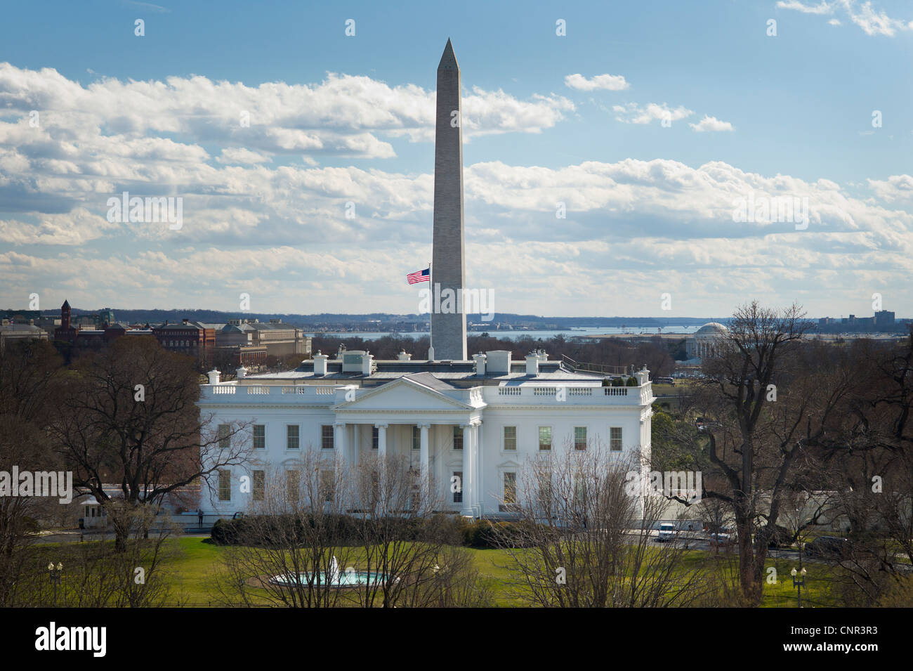 THE WHITE HOUSE WASHINGTON DC - Stock Image