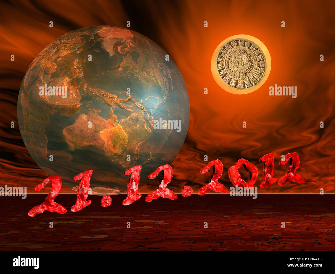 maya prophecy on the sun next to the earth and the end of the world