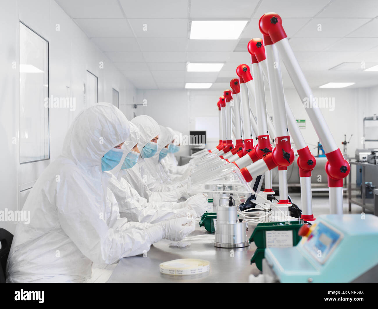 Scientists working in lab Stock Photo