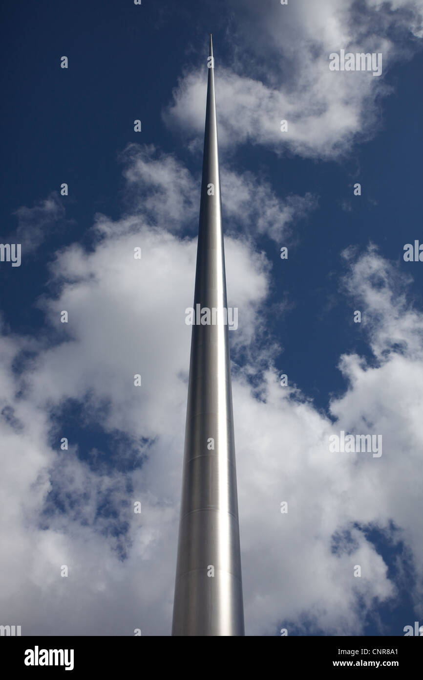 Monument of Light or Spire of Dublin which is located on O'Connel Street in the city centre. - Stock Image