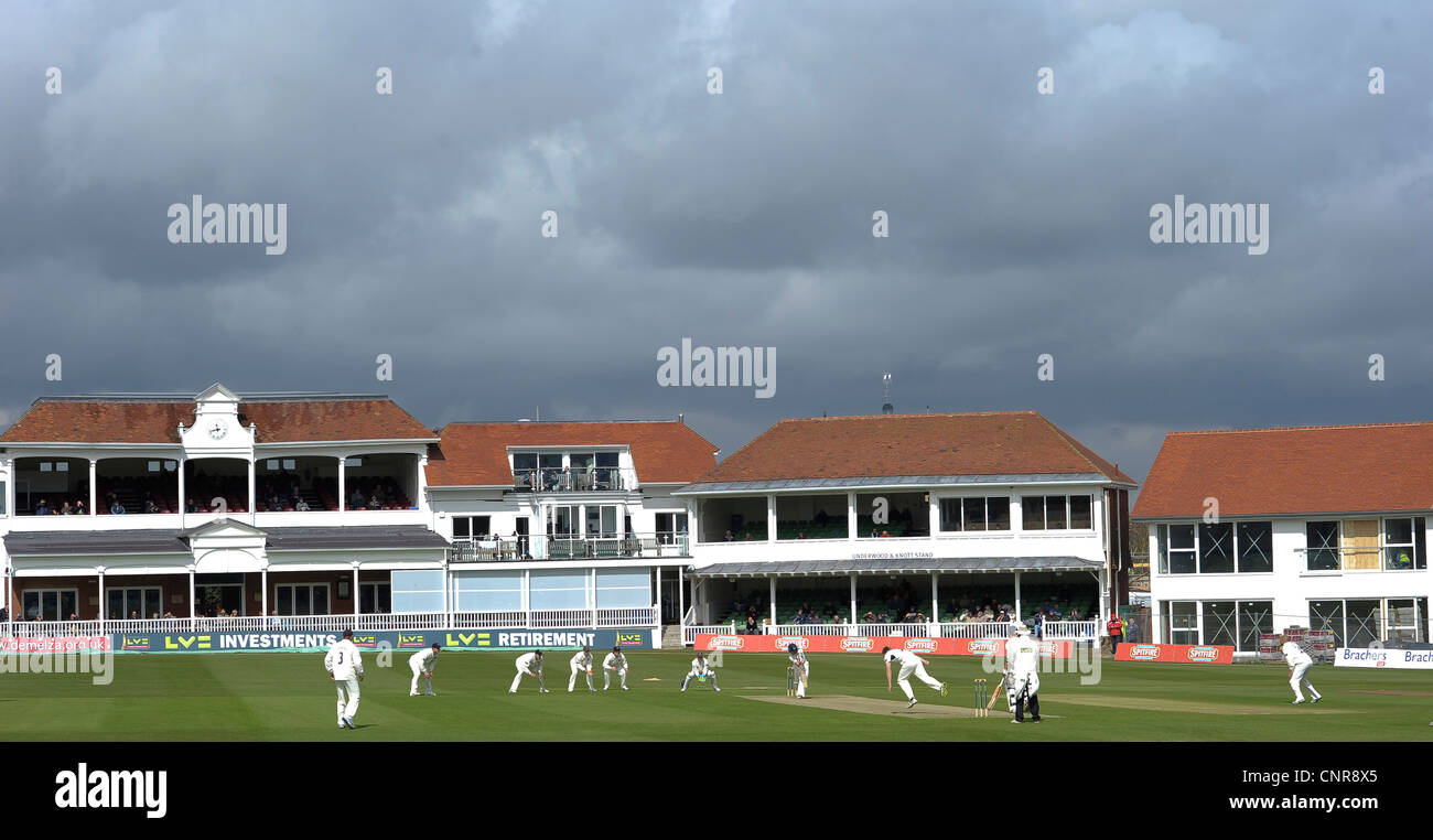 St Lawrence cricket Ground Canterbury, Kent, April 2012 - Stock Image