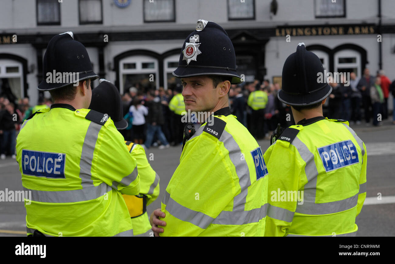 Police Football Fans Stock Photos & Police Football Fans