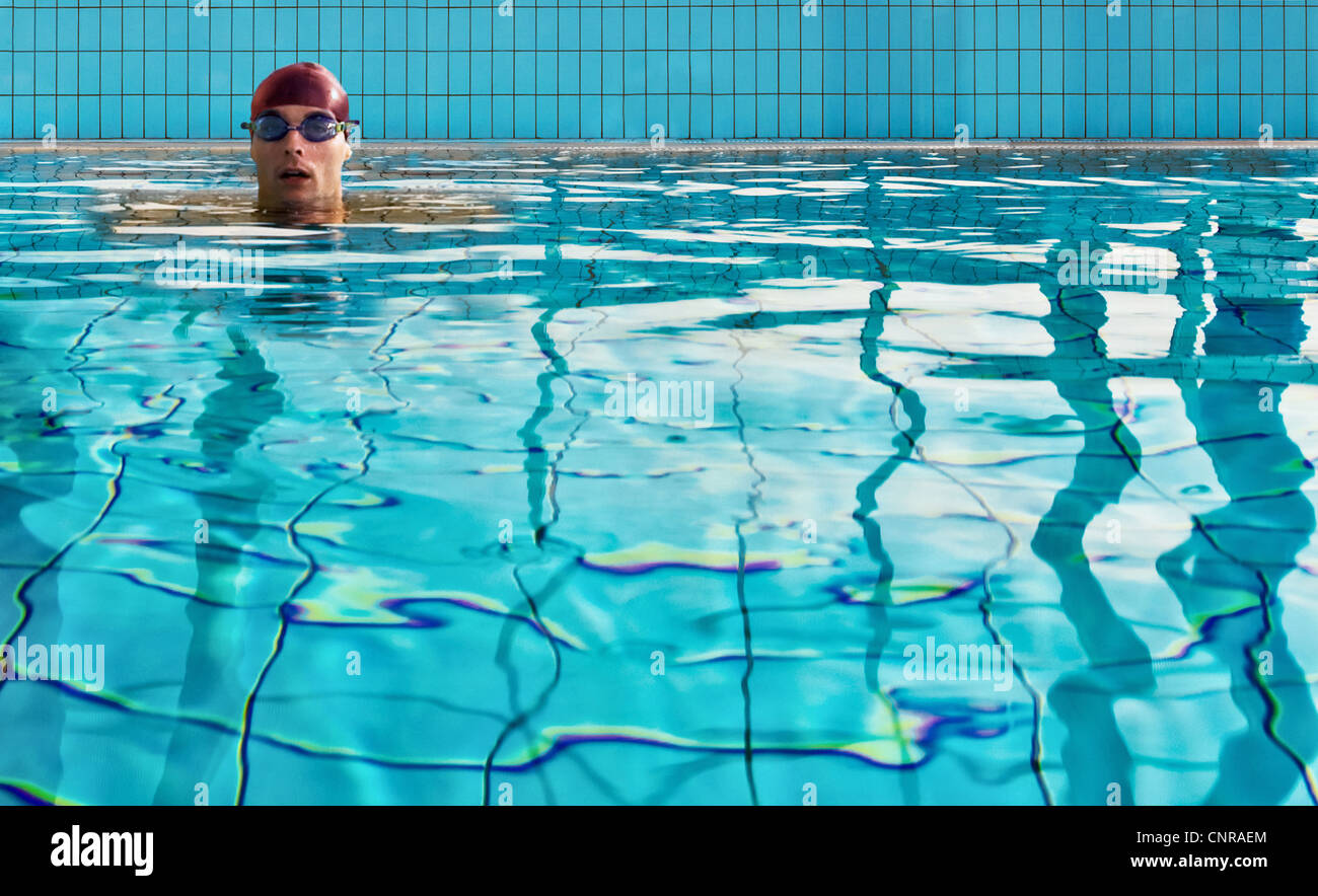 Man Inside Swimming Pool Stock Photos Man Inside Swimming Pool