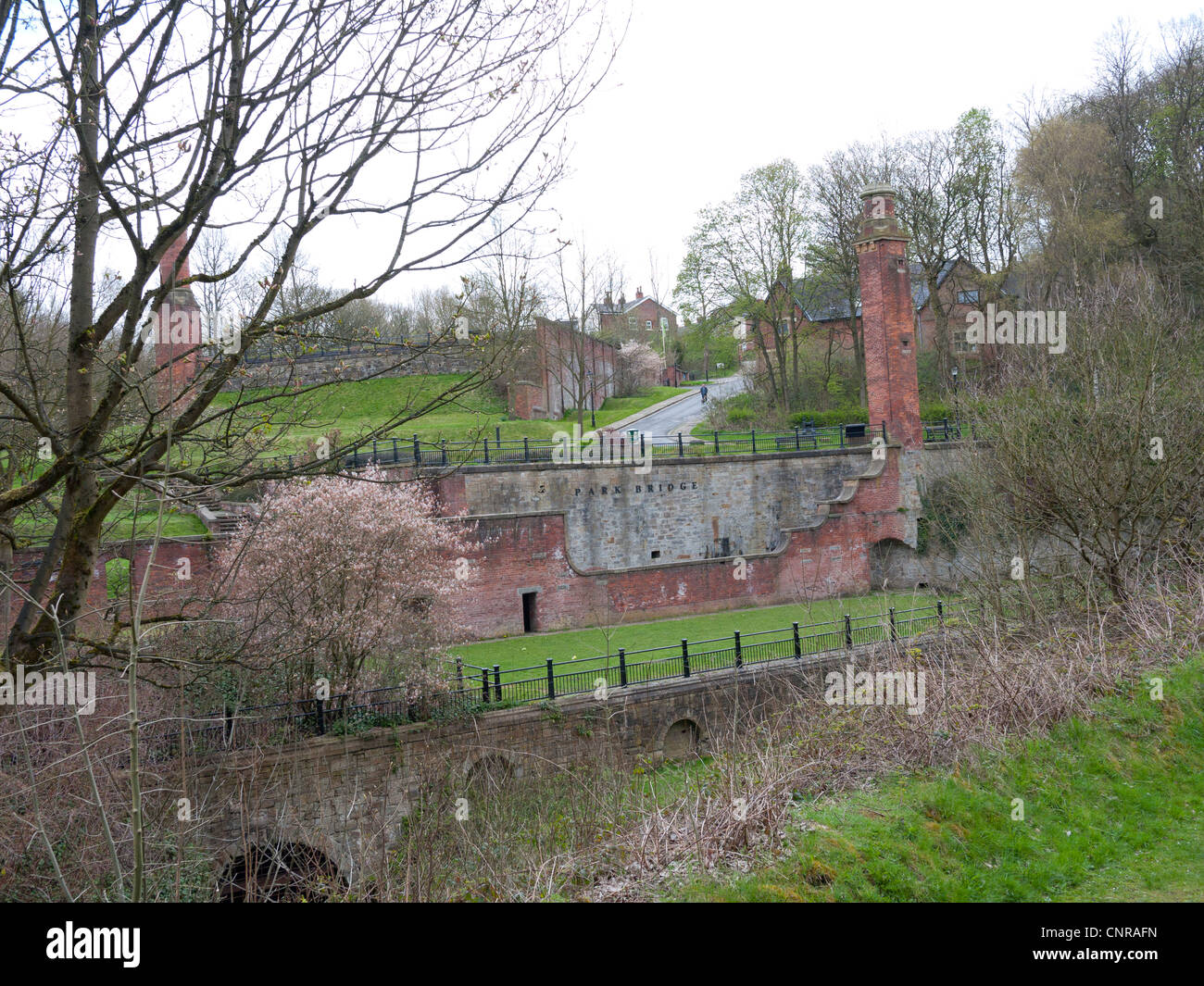 Remains of Park Bridge Ironworks, Ashton-under-Lyne, Lancashire, England, UK. Stock Photo