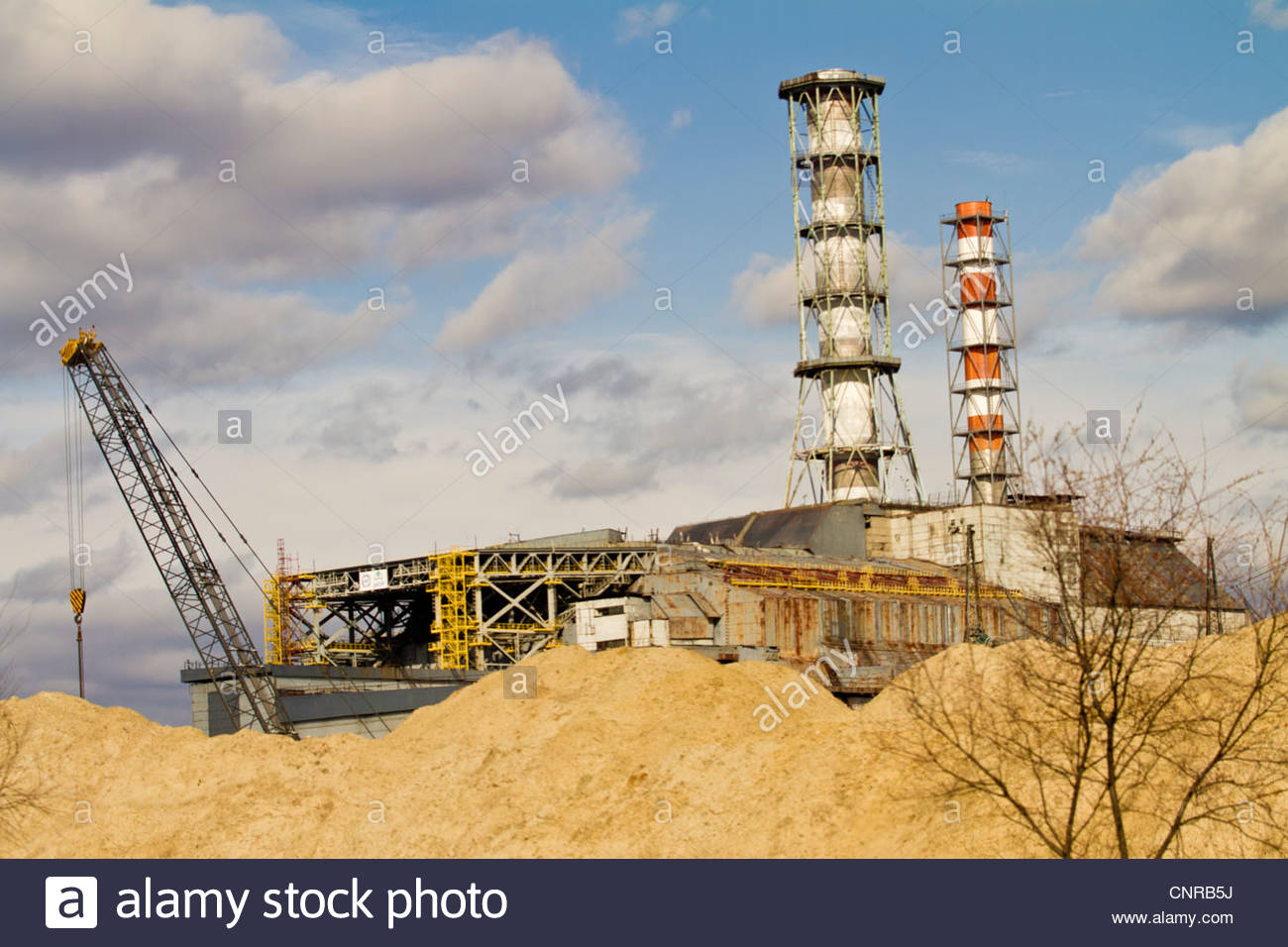Chernobyl. Pripiat. 2012 March, Chernobyl zone. March 2012. The nuclear reactor of the Chernobyl zone. - Stock Image