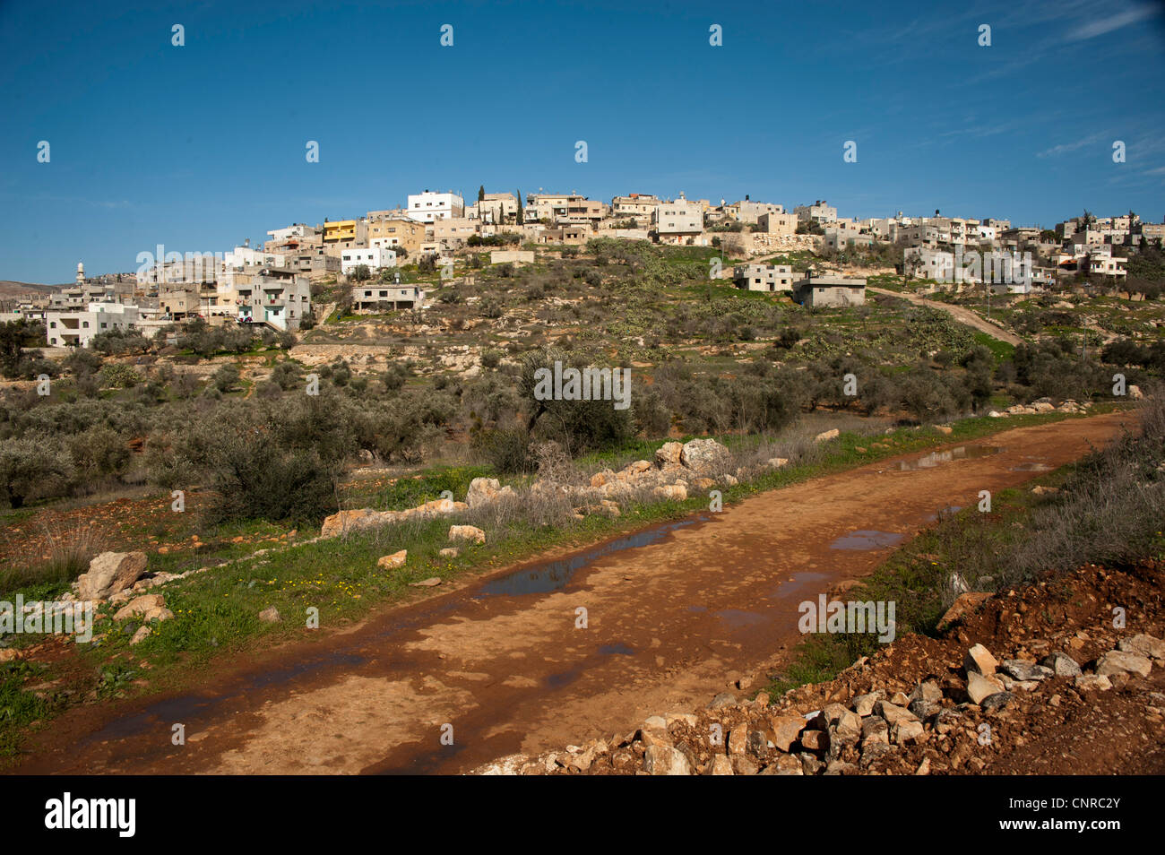 Palestinian villages under repression., One of the village around Nbalus. - Stock Image