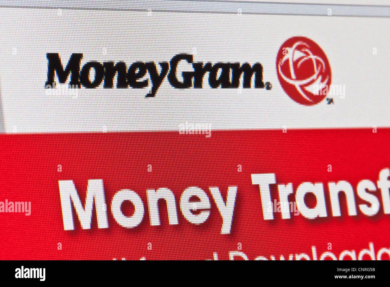 moneygram website page - Stock Image