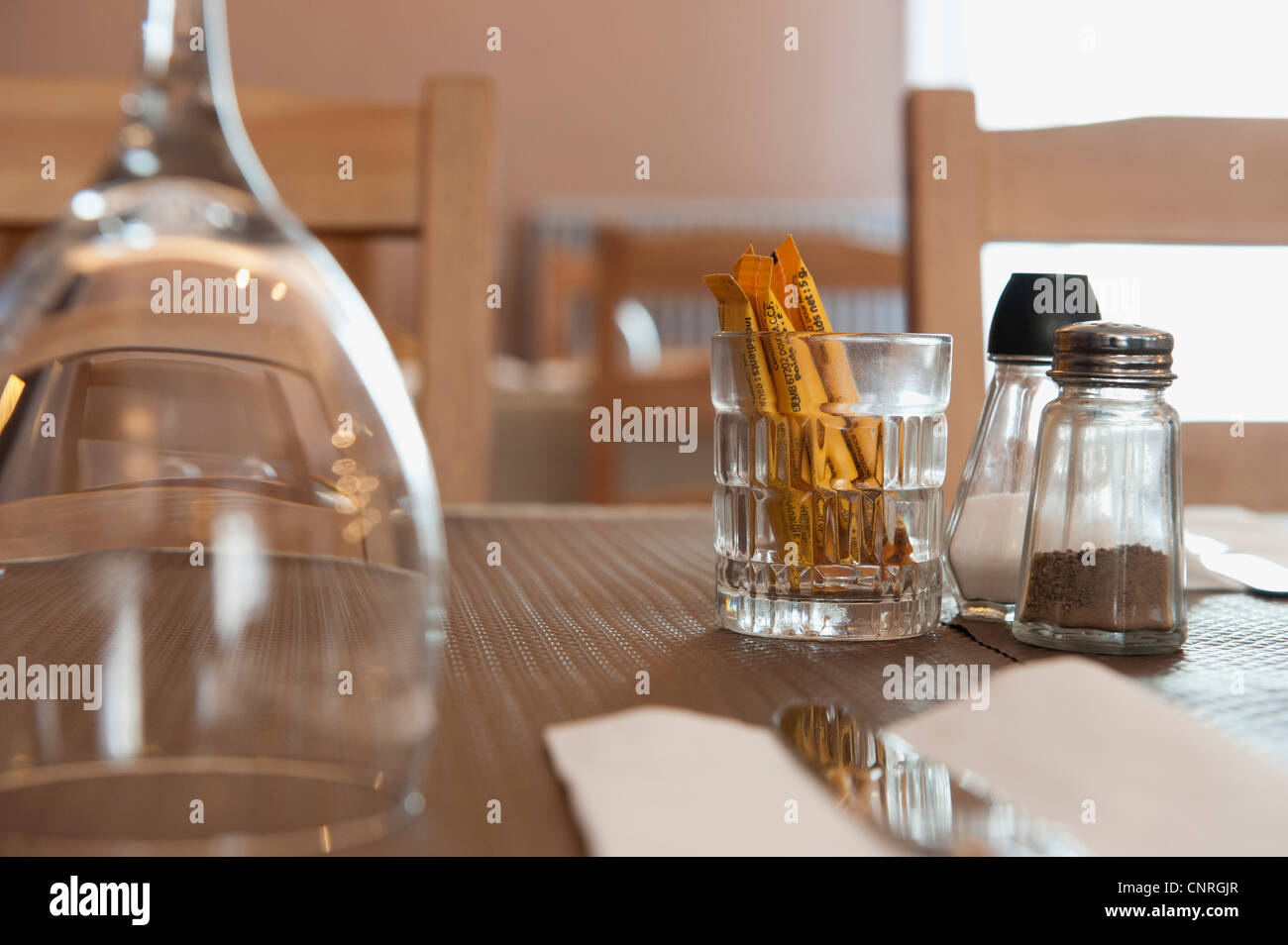 Place setting, selective focus - Stock Image